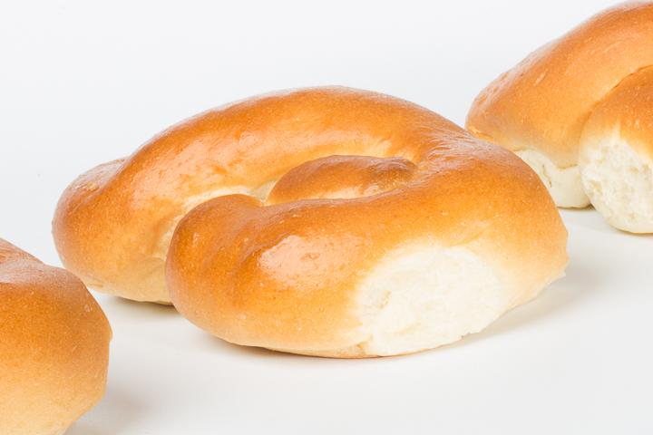 Gevlochten luxe broodje wit 6 stuks